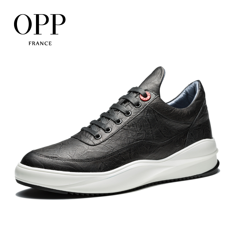 OPP 2017 Men Shoes Massage Men Loafers For Men Cow Leather Flats Casual Shoes Loafers footwear for Men Height Increasing Flats