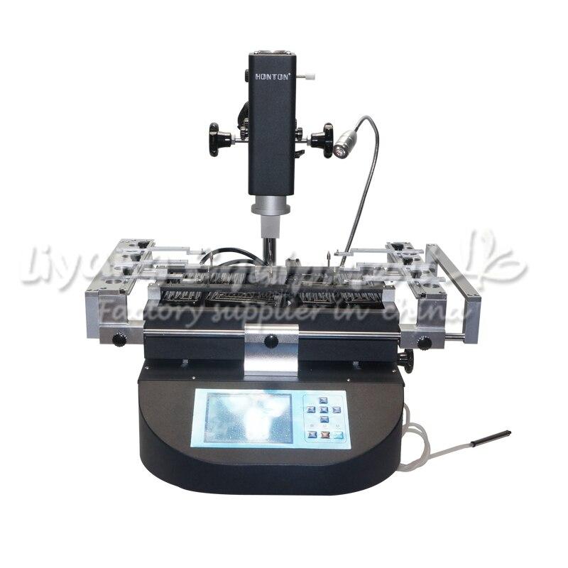 Hot air bga rework machine HT-R490 3 Zones soldering station for mpbile phone chip repair bga rework machine ly 5830c hot air 3 zones for laptop motherboard chip repair 4500w zm r5830
