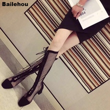 2019 Summer Sandal Boots Black Suede Mesh Boot For Women Square Toe Hollow Bandage Low Heel Ankle Boots Lady Fashion Rome Sandal