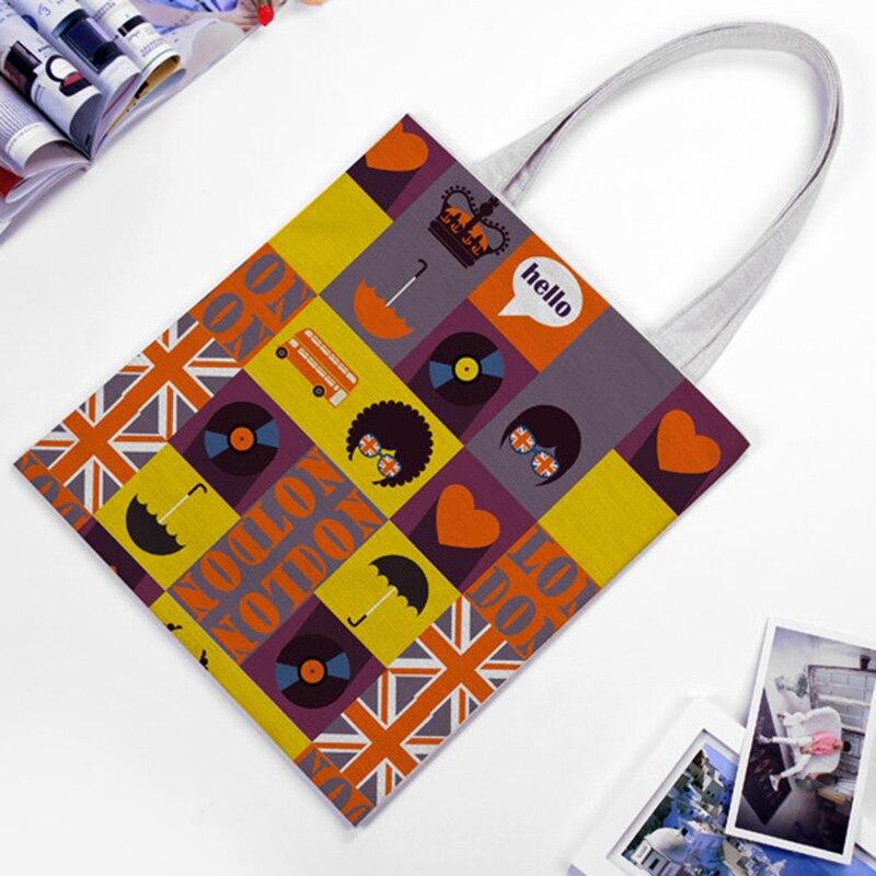 EXCELSIOR Cartoon Printed Women's Shoulder Bags Large Capacity Shopping Bag Customize Canvas Handbag Summer Beach Bag Bolsa 2