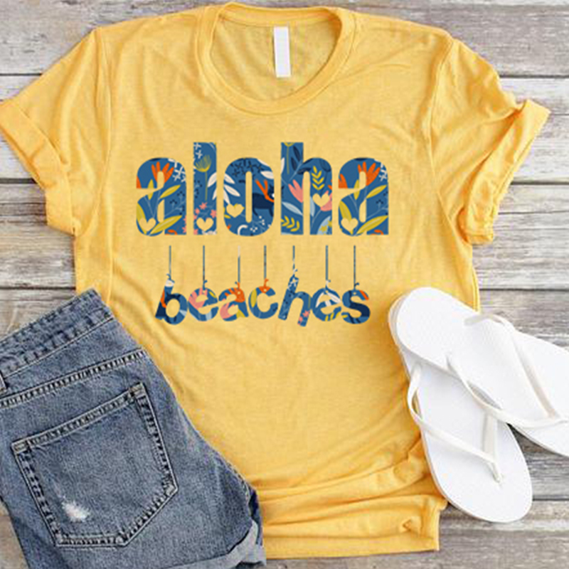 aloha shirts aesthetic tshirt women 90s top streetwear plus size woman harajuku love print tees summer t streetwear in T Shirts from Women 39 s Clothing