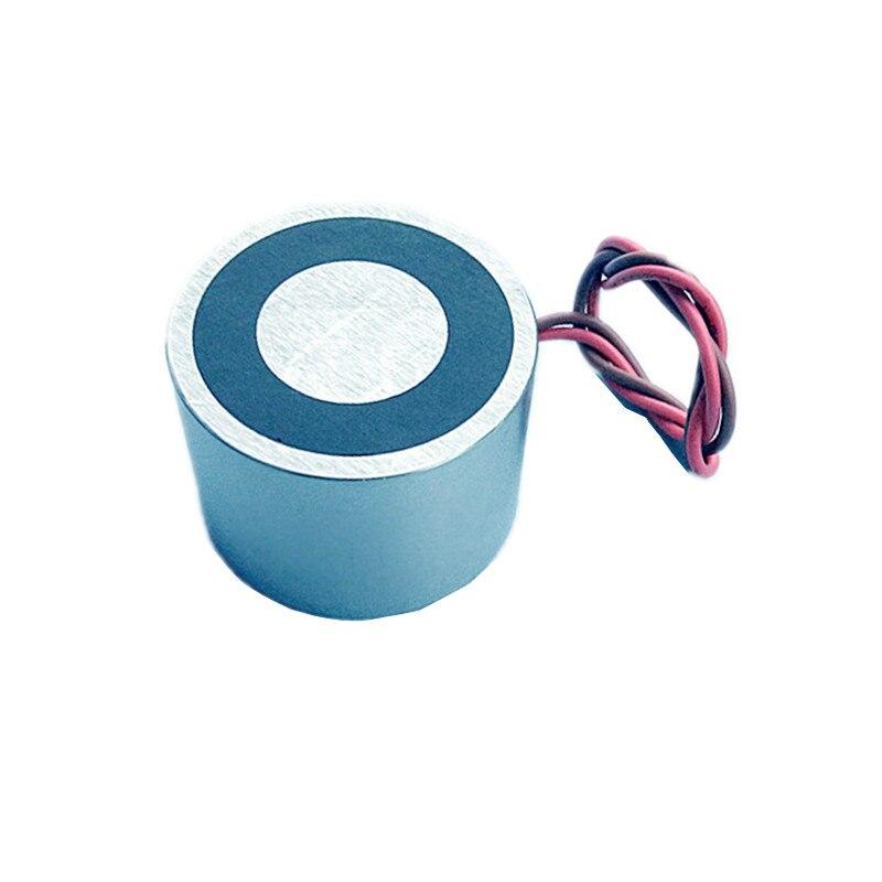Electromagnet Electric Permanent Magnet EPM Dia 40x25 mm Solenoid 12V 24V DC Input Strong Lifting Magnetic Holding Controller
