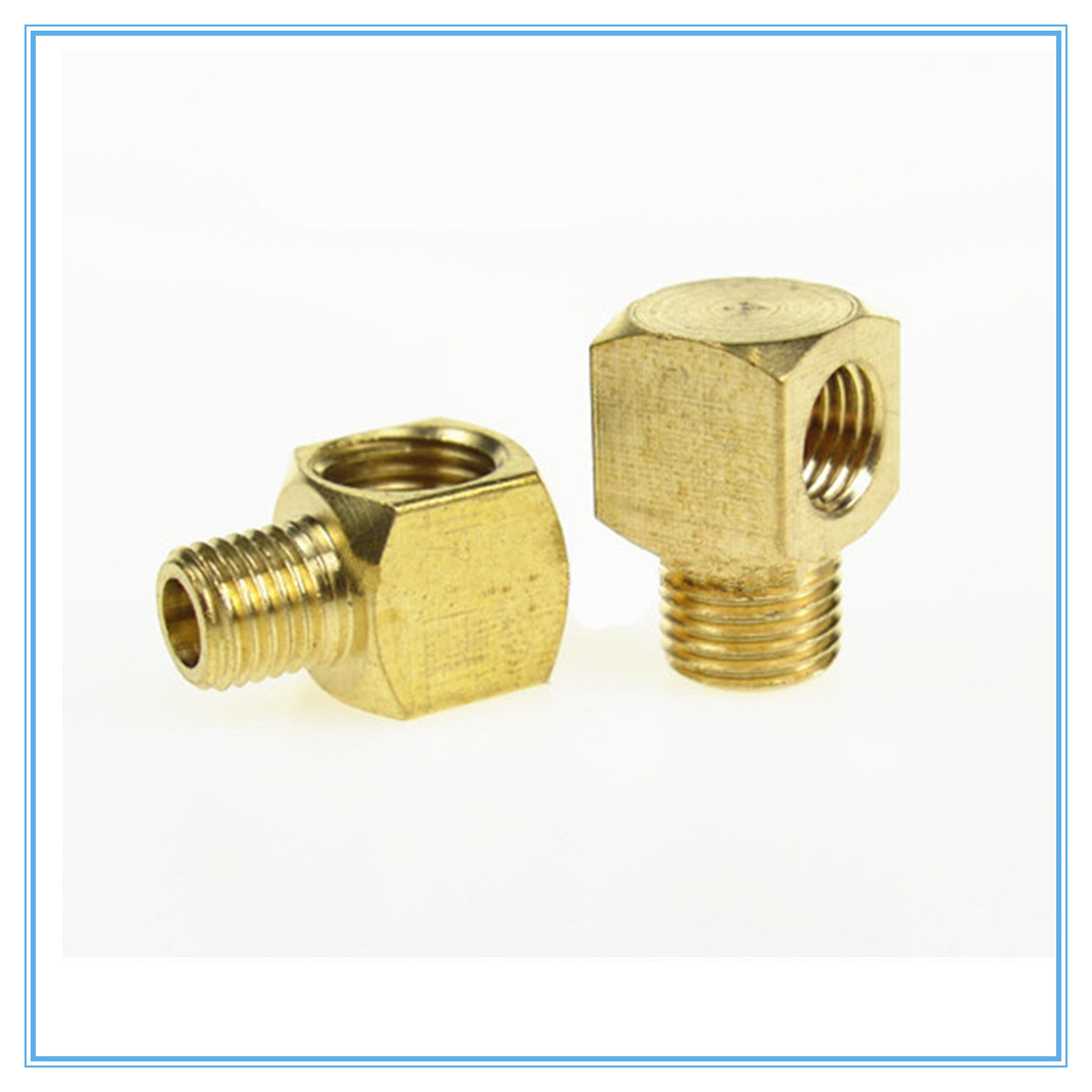 Plane elbow joint/ Machine tool lubrication Brass oil Pipe <font><b>Fitting</b></font> 4/<font><b>6mm</b></font> OD <font><b>Tube</b></font> Compression <font><b>Fitting</b></font> Connector image