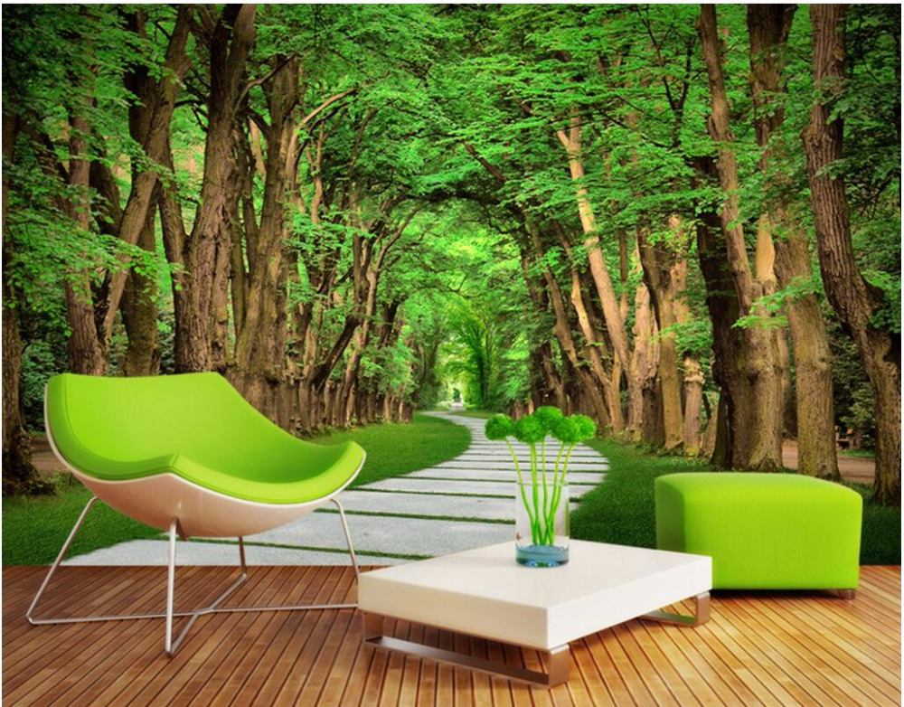 Custom photo 3d room wallpaper Non-woven mural Trees Slate Path decoration painting 3d wall murals wallpaper for walls 3 d custom photo 3d wallpaper non woven mural the pyramids of egypt decoration painting 3d wall murals wallpaper for living room