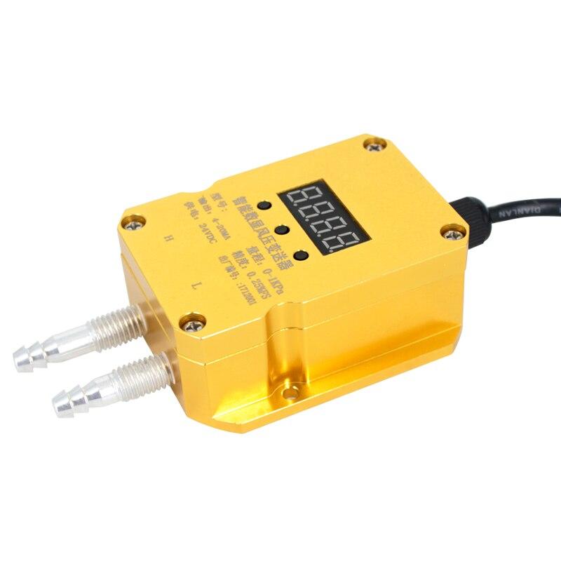 QDF70B 4-20mA transmetteur de différence de pression 0-2KPa affichage numérique chaudière à gaz Mine de charbon capteur de transmetteur de pression éolienne - 4