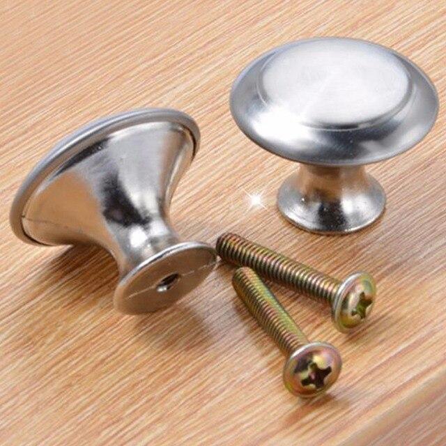 10 Set 24/28mm Zinc Satin Nickel Cabinet Pull Cupboard Drawer Handle Knob  Wardrobe Drawer