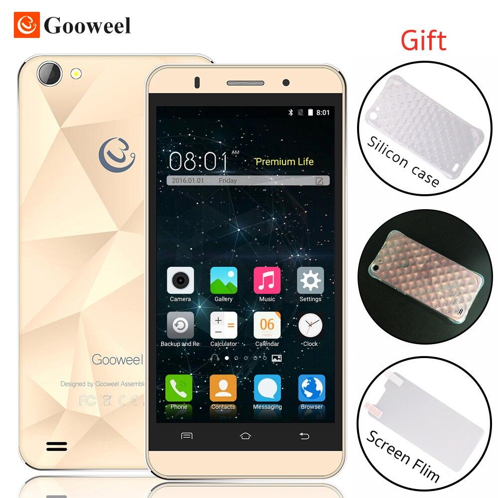Original Gooweel M5 Pro smartphone MT6580 quad core 5 inch IPS mobile phone 1GB 8GB