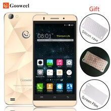 Original Gooweel M5 Pro smartphone MT6580 quad core 5 inch IPS mobile phone 1GB+8GB 8MP camera GPS 3G cell phone Free Case