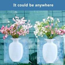 Силиконовая волшебная липкая настенная ваза для цветов подвесная