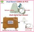 Novo Dual Band 3G Sinal Móvel Impulsionador 850 MHz 1900 MHz GSM CDMA PCS Repetidor de Sinal de Telefone Celular Amplificador de Sinal com Antena