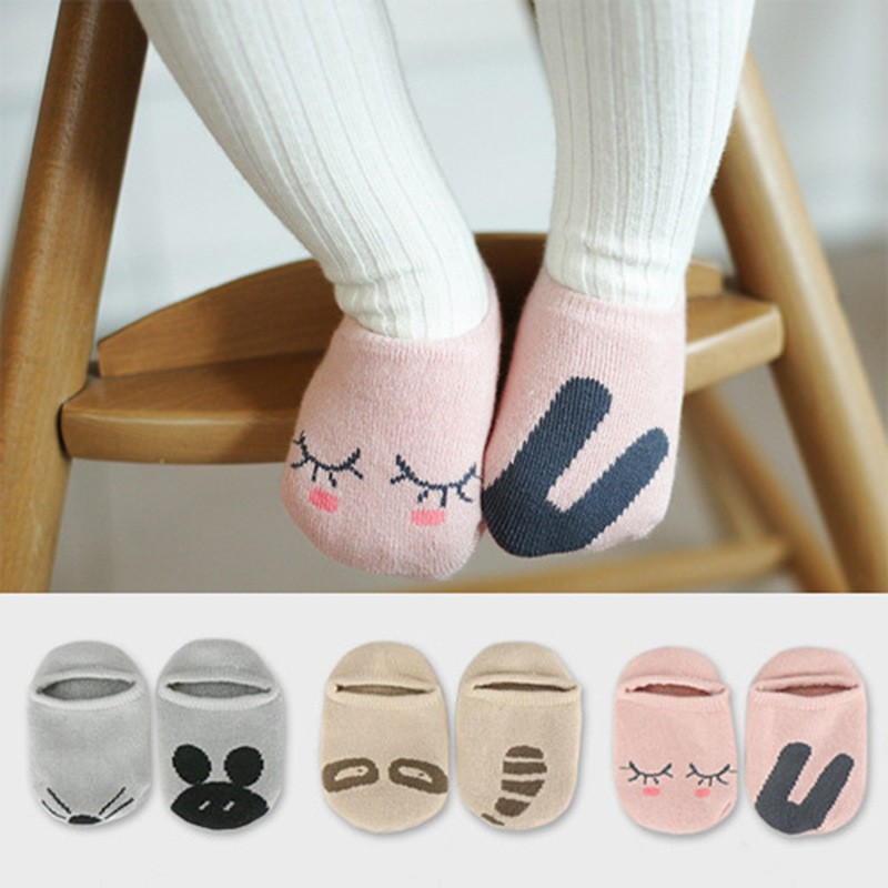 Lots of Designs Baby Floor socks Asymmetric Ship Socks Cotton Hosiery for Children Cute Cartoon Characters Girls Sock
