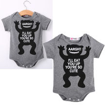 Newborn Toddler Baby Boy Girls Monster Jumpsuit Bodysuit Outfits Clothes
