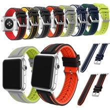 Joyozy bande pour apple montre série 1/2/3 38mm de mode sport bracelet pour iWatch 42mm souple En Silicone bande De Remplacement