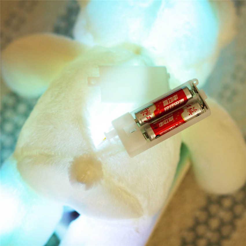 Дети избранное ночник милый 50 см/30 см Прекрасный мягкий светодиодный Яркий светящийся плюшевый мишка мягкие плюшевые игрушки подарки для дня рождения
