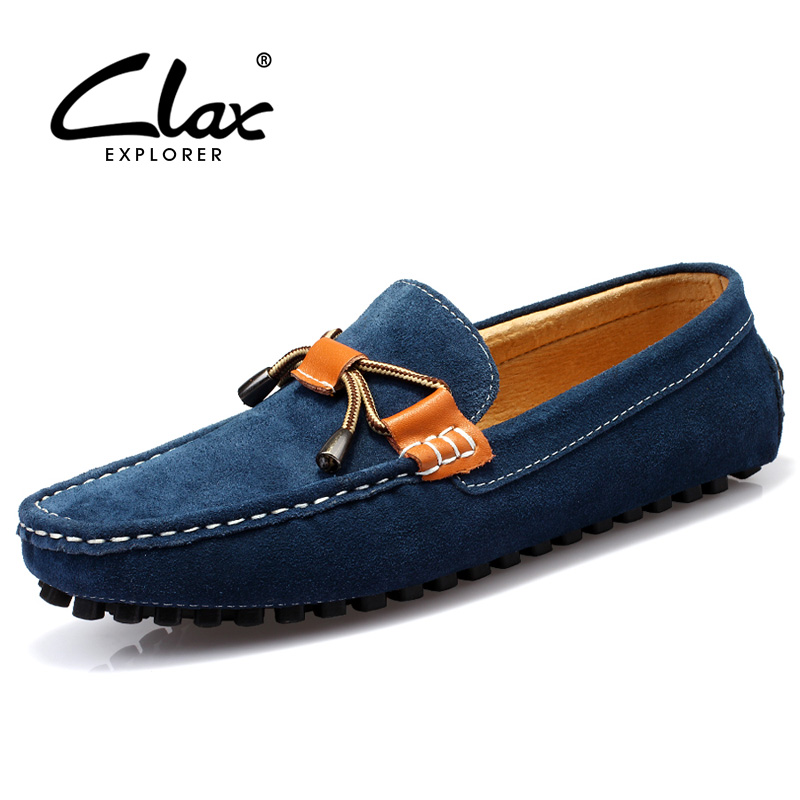 Clax Men Fashion Shoes Summer Autumn British Style Loafers for Men Velvet Flat Driving Shoes Moccasins Suede Leather casual shoe 2016 new summer british style men s driving shoes fashion casual shoes flat with low top 39 44 size