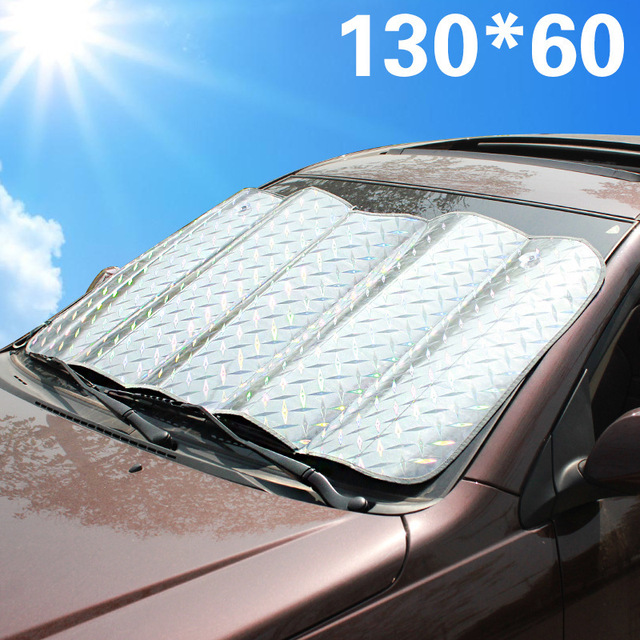 Car Sunshade SPF 130*60 Laser Front Window Solar Protection UV Protect