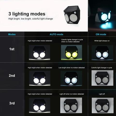 livre sensor de movimento rgb lampada dupla