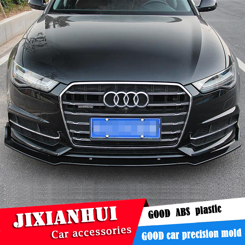 For Audi A6 Body Kit Spoiler 2016-2018 For Audi A6 ABS Rear Lip Rear Spoiler Front Bumper Diffuser Bumpers Protector