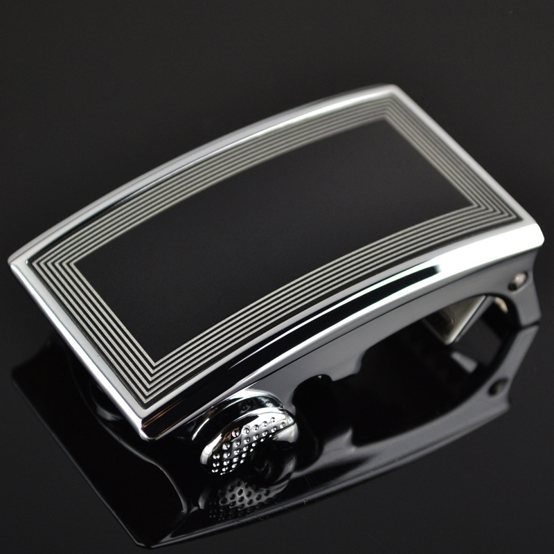 Genuine Men's Belt Head Belt Buckle Leisure Belt Head Business Accessories Automatic Buckle Width 3.5CM LYX10730AL-1