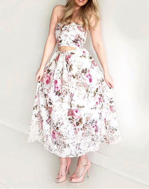 Taille Imprimé Dentelle Dimanche Ourlet Anglaise Halter New Détouré Noeud Femme Eden Floral Broderie Summer Multi Mi Robe Buste Couture 2017 OnRUqBO