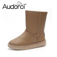 Audorci Winter Warm Snow Boots Women Ladies Girls Thicken Plush Woman Shoes Round S Shoes