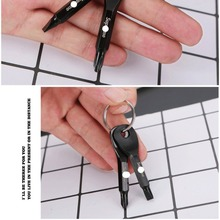 Creative outdoor portable multi-tools a Phillips screwdriver key ring pendant Outdoor Camping Hiking