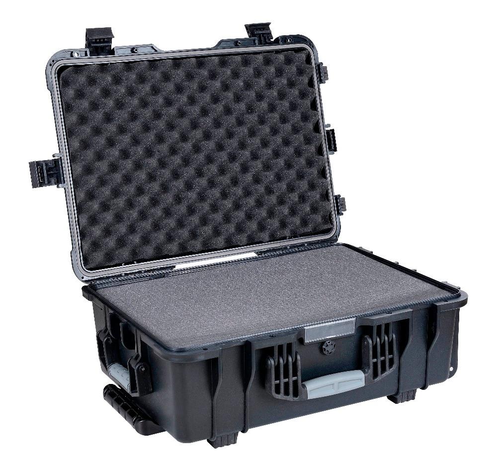 Waterproof Injection Mould Plastic Hard Trolley Case With Foam Inserts