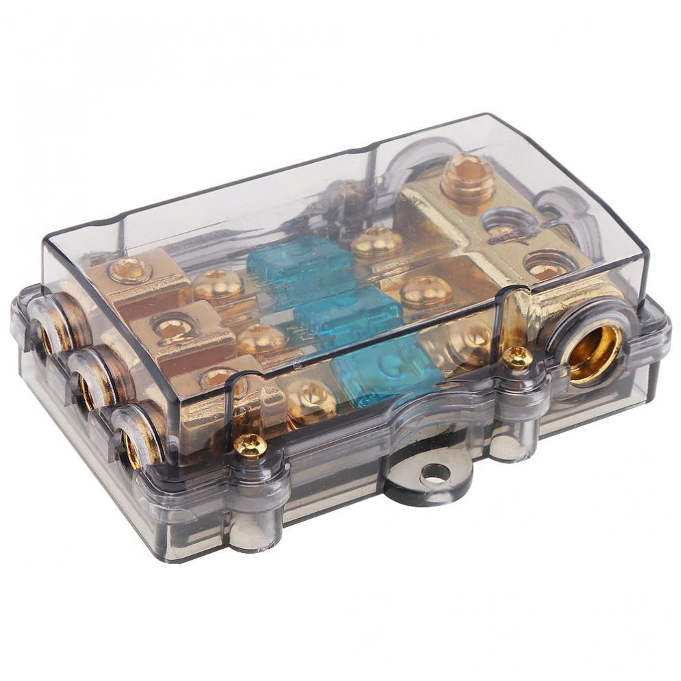 12v 60a Plastic Car Audio Power Fuse Holder Fuse Box Auto Amplifier Refit Fuse Adapter