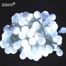 Christmas 10M Ball LED String Lights With 80pcs Ball Patio Fairy String Garland Starry Lights Wedding Party Outdoor 220V 110V 10m 20m 30m 100 200 300 led cherry balls fairy string decorative lights 110v 220v plug wedding christmas garland patio decor