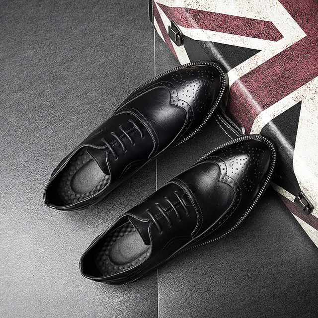 Brand Formal Dress Men Shoes Genuine Leather Business Classic Office