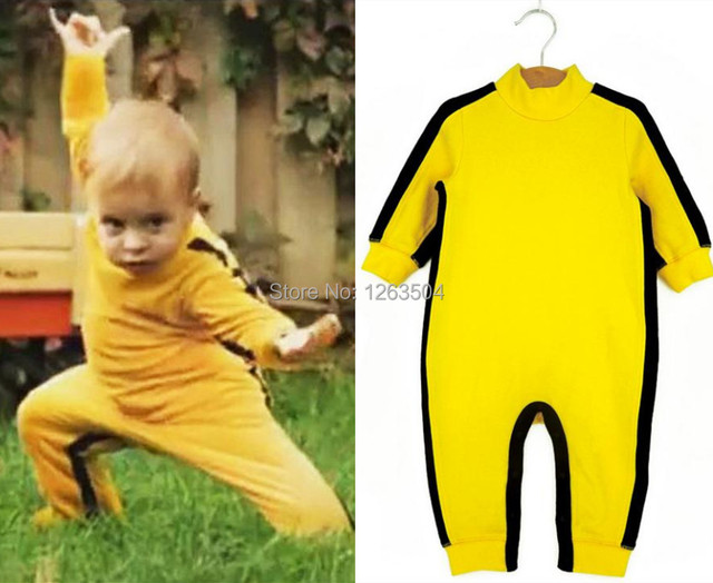 Bruce Lee Cotton Baby Rompers Clothes Boys Girls Outerwear Sleepsuit