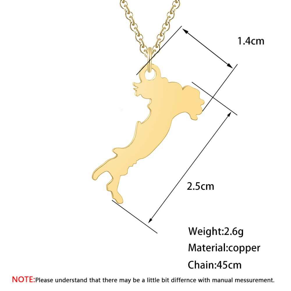 Map Of Italy Simple.Chandler Italy Map Pendant Necklaces Tiny Stainless Steel Charm Italian Maps Jewelry Gifts Simple Clavicle Chain Collana Chokers