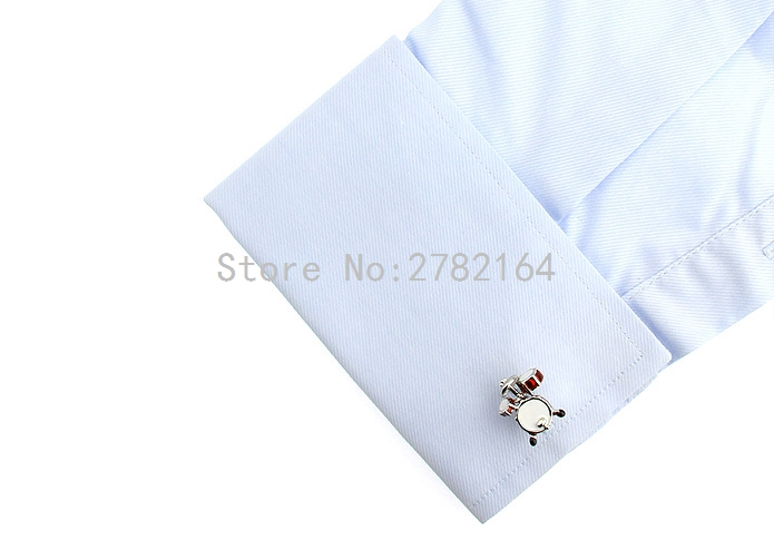 Small drum shape cufflinks mens shirts cufflinks cuff nails of the lacquer that bake wholesale and retail free shipping