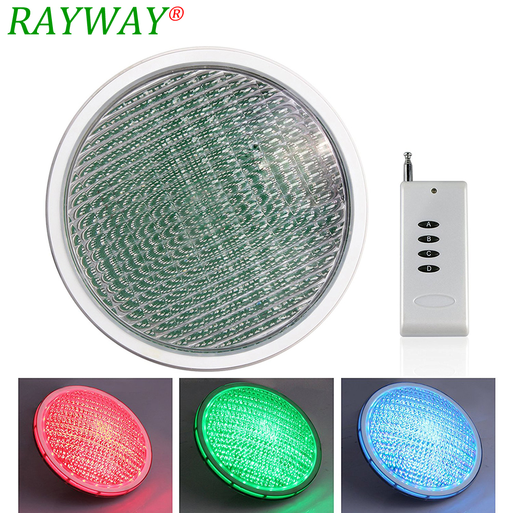 RAYWAY LED Par56 bulb Lamp 54W 12V AC par 56 lamp LED swimming pool lighting RGB IP68 LED underwater light Pond lights