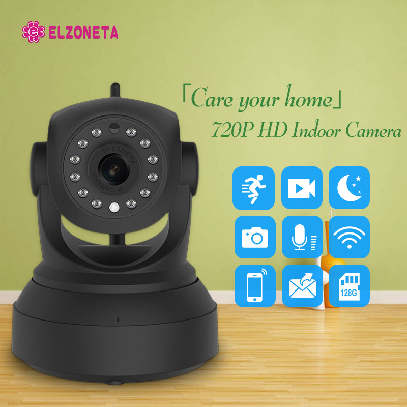 ELZONETA HD Indoor Wireless 720P Security IP Camera Surveillance WiFi CCTV Camera Pan/Tilt Night Vision Support 128G SD Card цена 2017