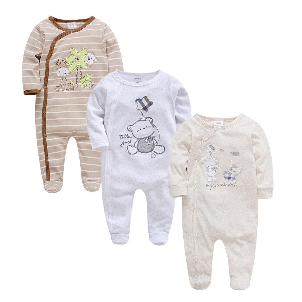 Kavkas Baby Boy   Rompers   3 6 9 12m Full Sleeve Newborn Clothes Set Summer Girl Unicorn Baby Clothing Infant Roupa