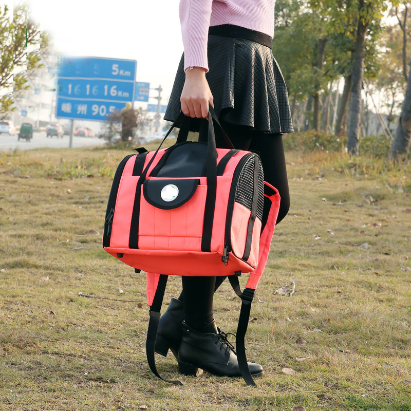 Breathable Pet Carriers bag Outdoor Travel Mesh Pet Backpack Carry Bag Dog Carriers handbag Cozy Cat Rabbit Small Pet Cage House3