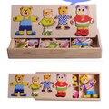 Медведи есть шесть комплекта одежды детские деревянные игрушки развивающие игрушки раннего детства платье в паре головоломки бесплатная доставка