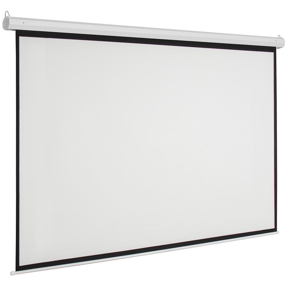 Écran de projecteur motorisé par écran de projecteur électrique de 92 pouces 16:9 avec à télécommande pour la barre d'école de commerce de cinéma maison