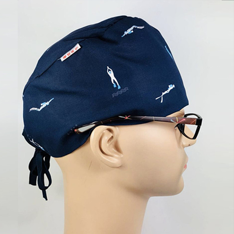 Surgical Caps For Men In Hospital  Medical Cap Male Doctor Cotton Fabric Surgery Clinic Nursing Working Hats