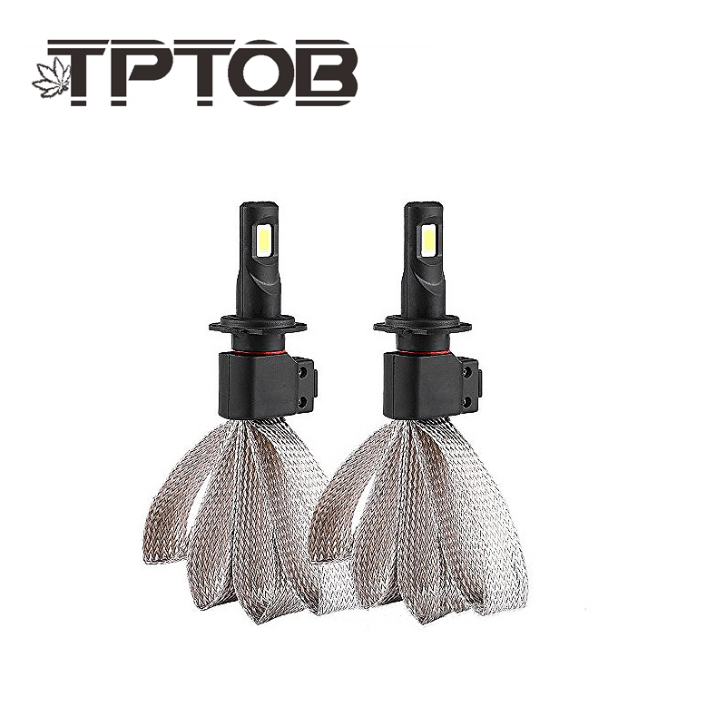 TPTOB Pair of Car LED H1 H4 H7 Led Bulb H27 H3 HB3 HB4 H11 H13 9004 9007 LED Headlight Bulbs 60W 6400lm 6000K S7 Auto Headlamp