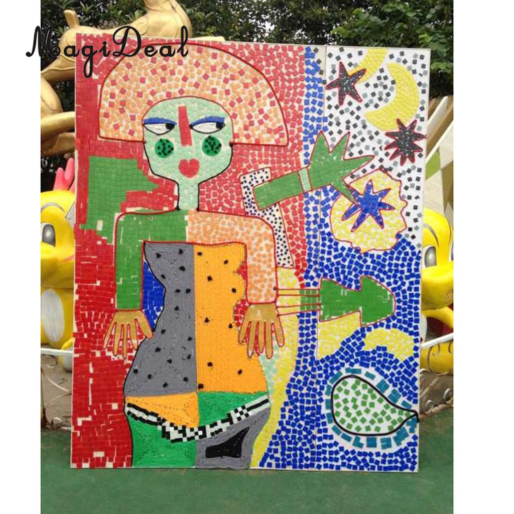 magideal 250 pcs lot vitreous glass mosaic tiles for arts cups photo