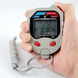 Stoper cyfrowy z potrójny wyświetlacz 3-liniowy minutnik stoper pomiar i narzędzie i timery Sport stoper
