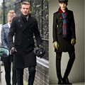 2016 Winter New England Men's  double-breasted temperament wool coat jacket Men's brand  Fashion Casual  Warm coats