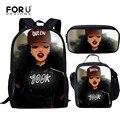 3 шт.  школьный рюкзак для девочек-подростков  с сумкой-книжкой  в Африканском и американском стиле