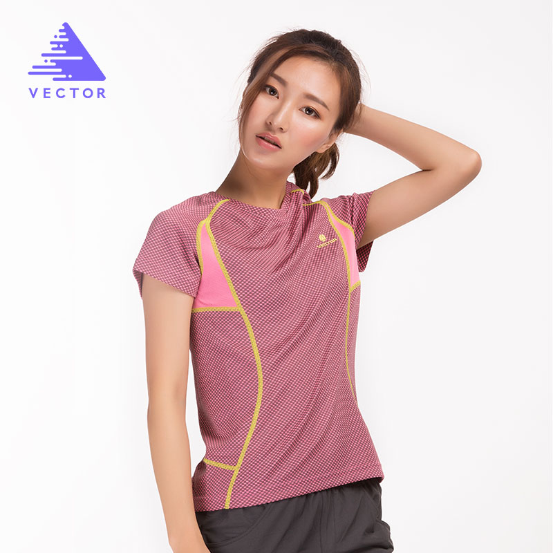 Summer Quick Dry Running T-Shirts Women Bamboo Fiber Breathable T-Shirt Short Sleeve Outdoor Sport Run T-shirt 10014
