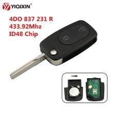Yiqixin 43392 МГц 2 кнопочный складной Автомобильный ключ с