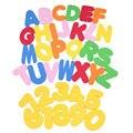 36 Unids EVA Bebé Juguetes de Baño Letras y Números Se Pegan En La Pared Juguetes de Aprendizaje