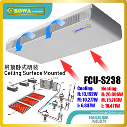 Ceiling surface mounted FCU doesnt require skilled workers or professional engineers to install, better choice for hot area
