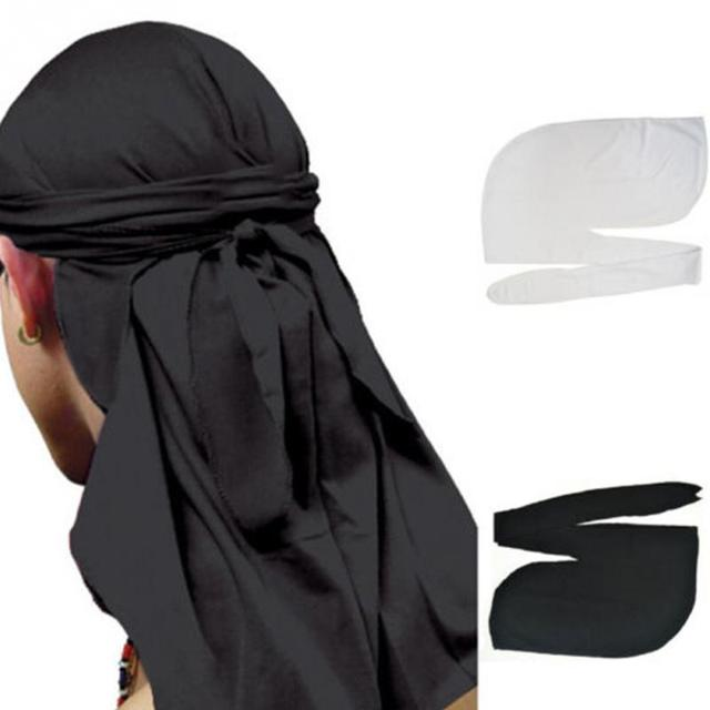 Soft Milk fiber street style 2 Colors Boy scarf Hat Men Wave Cap Headwrap  Sport Hip Hop Skull Hat Headscarf Long Tail Cap scarf-in Men s Scarves from  ... 1c4ffd066f6e